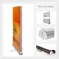 Roll-up banner display dublu
